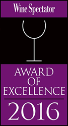 Wine Spectactor Award of Excellence